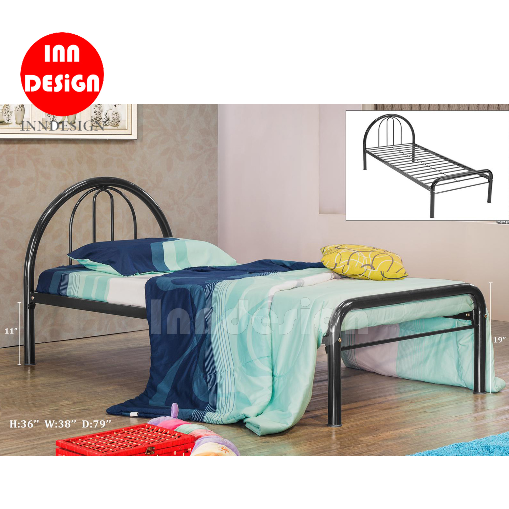 Kurd Single Metal Bedframe