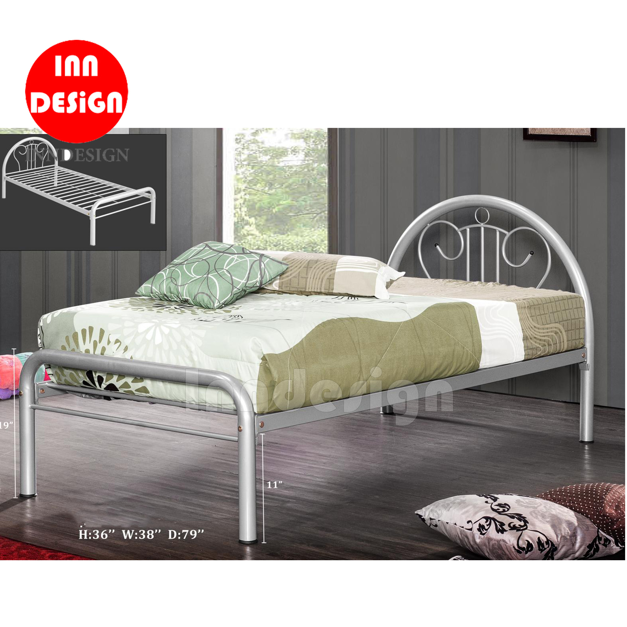 Monica Single Metal Bedframe