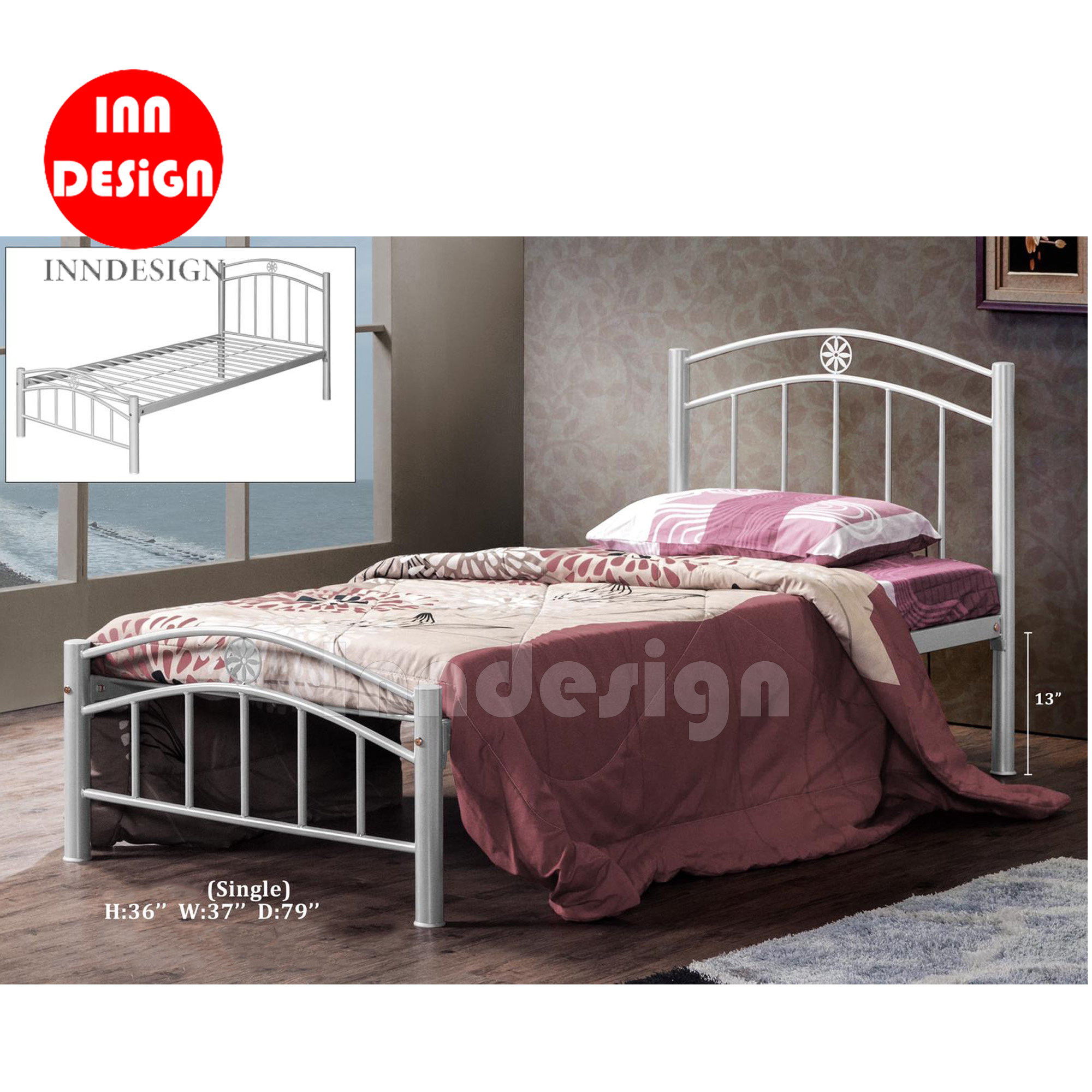 Vivi Single Metal Bedframe