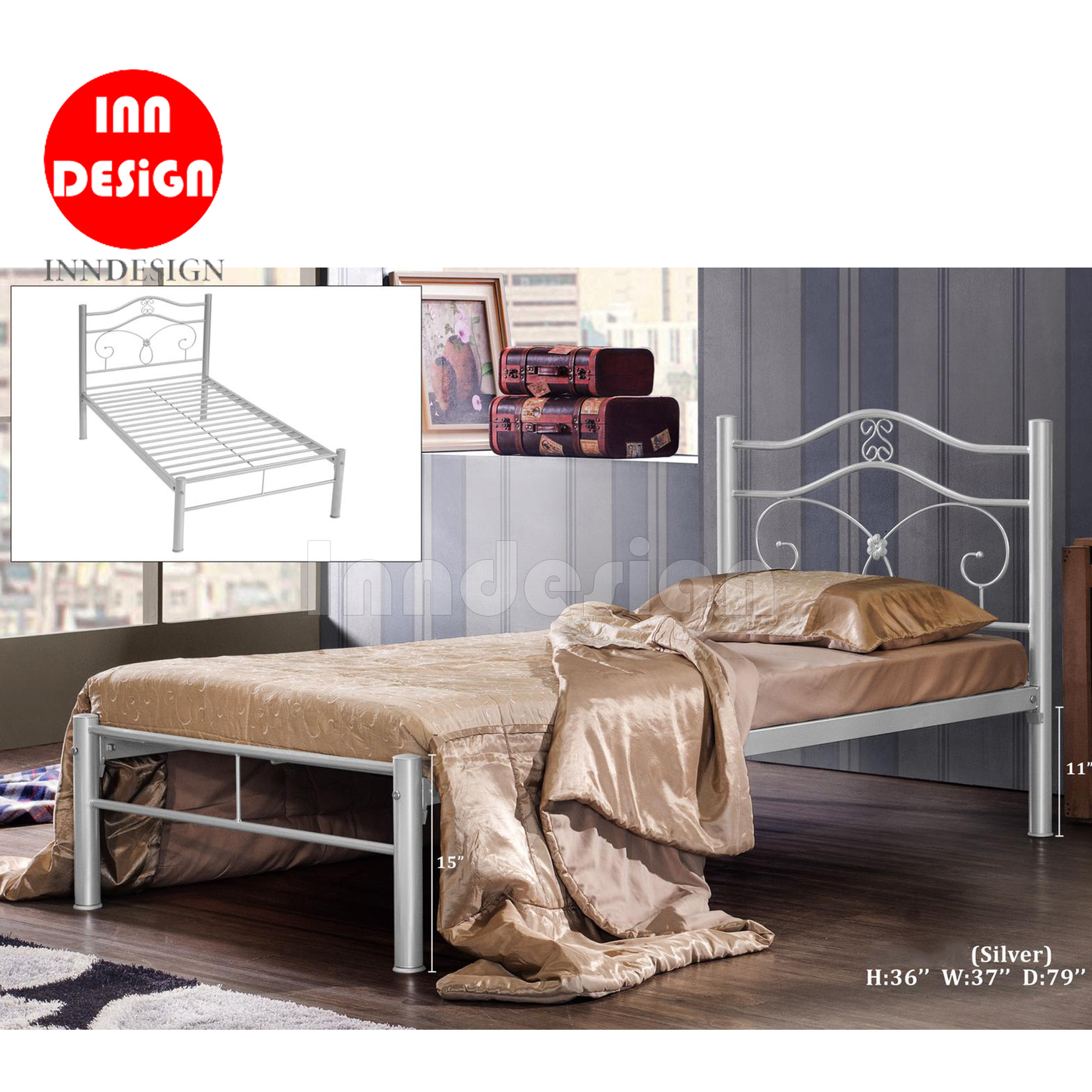 Ricky Single Metal Bed Frame