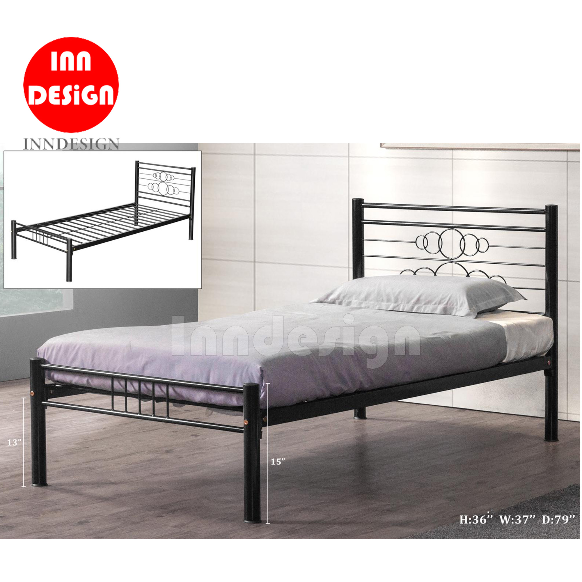 Hiralo Single Metal Bedframe