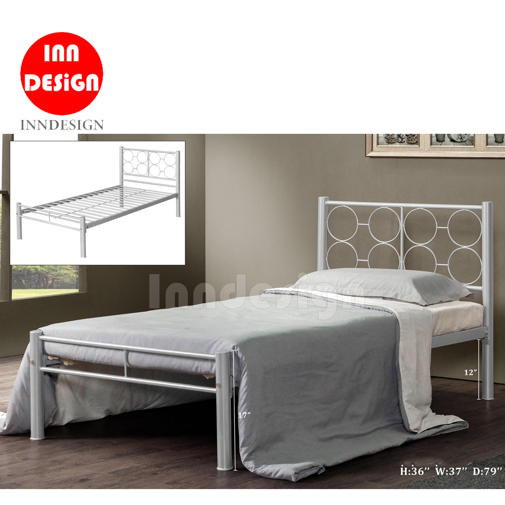 Jewo Single Metal Bedframe