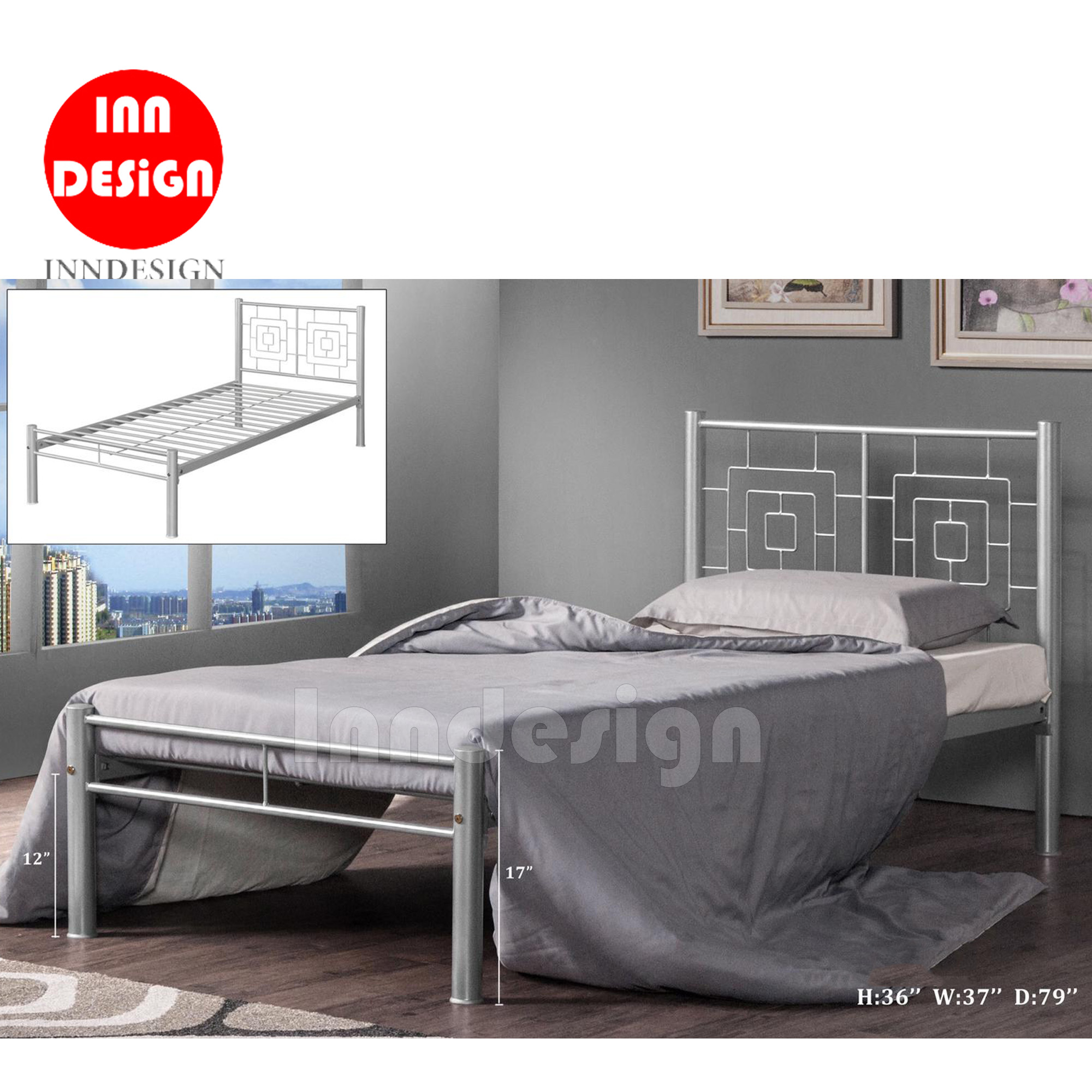 Felix Single Metal Bedframe