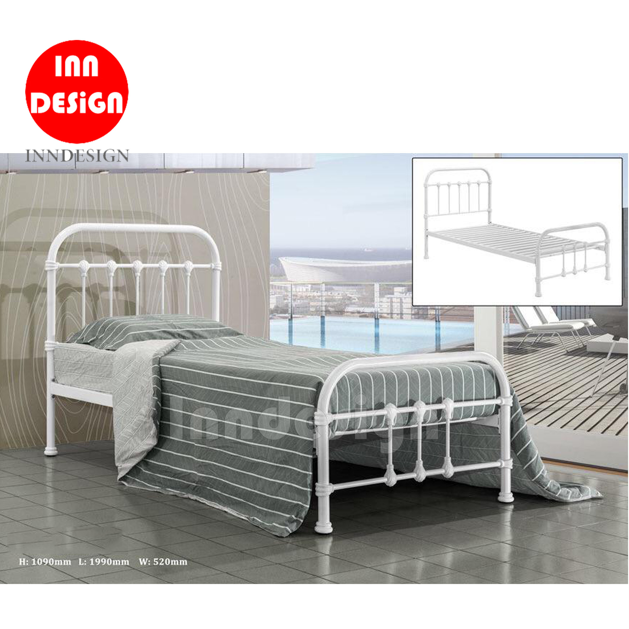 Alvie Single Metal Bedframe
