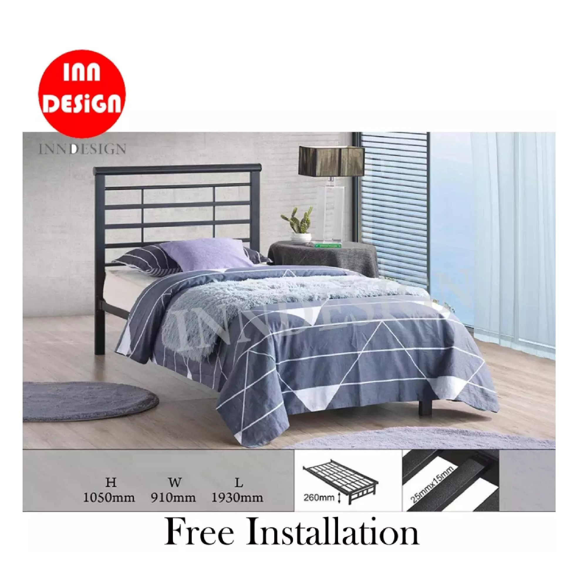 Belle Single Metal Be (Free Delivery and Installation)