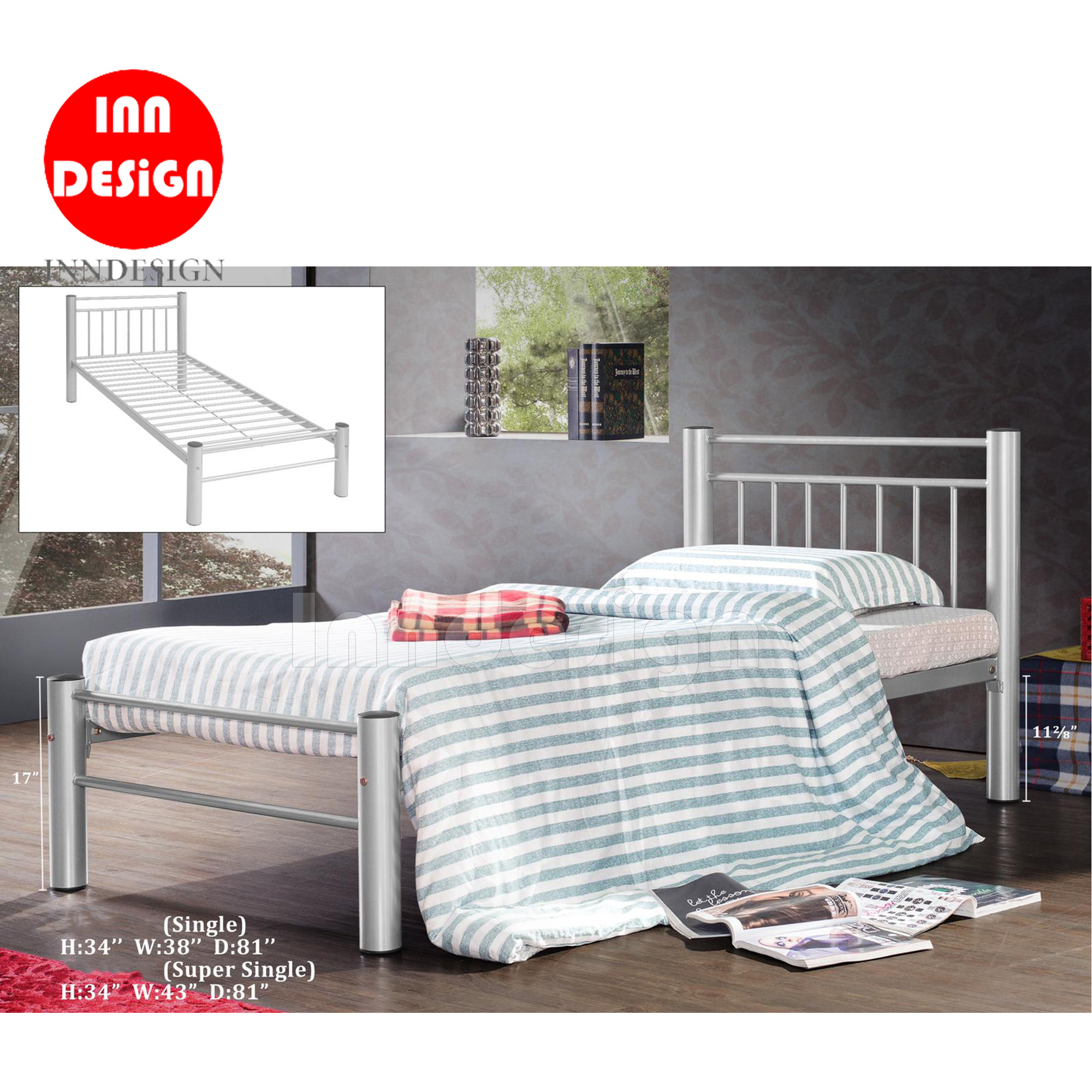 Ceili Super Single Metal Bedframe