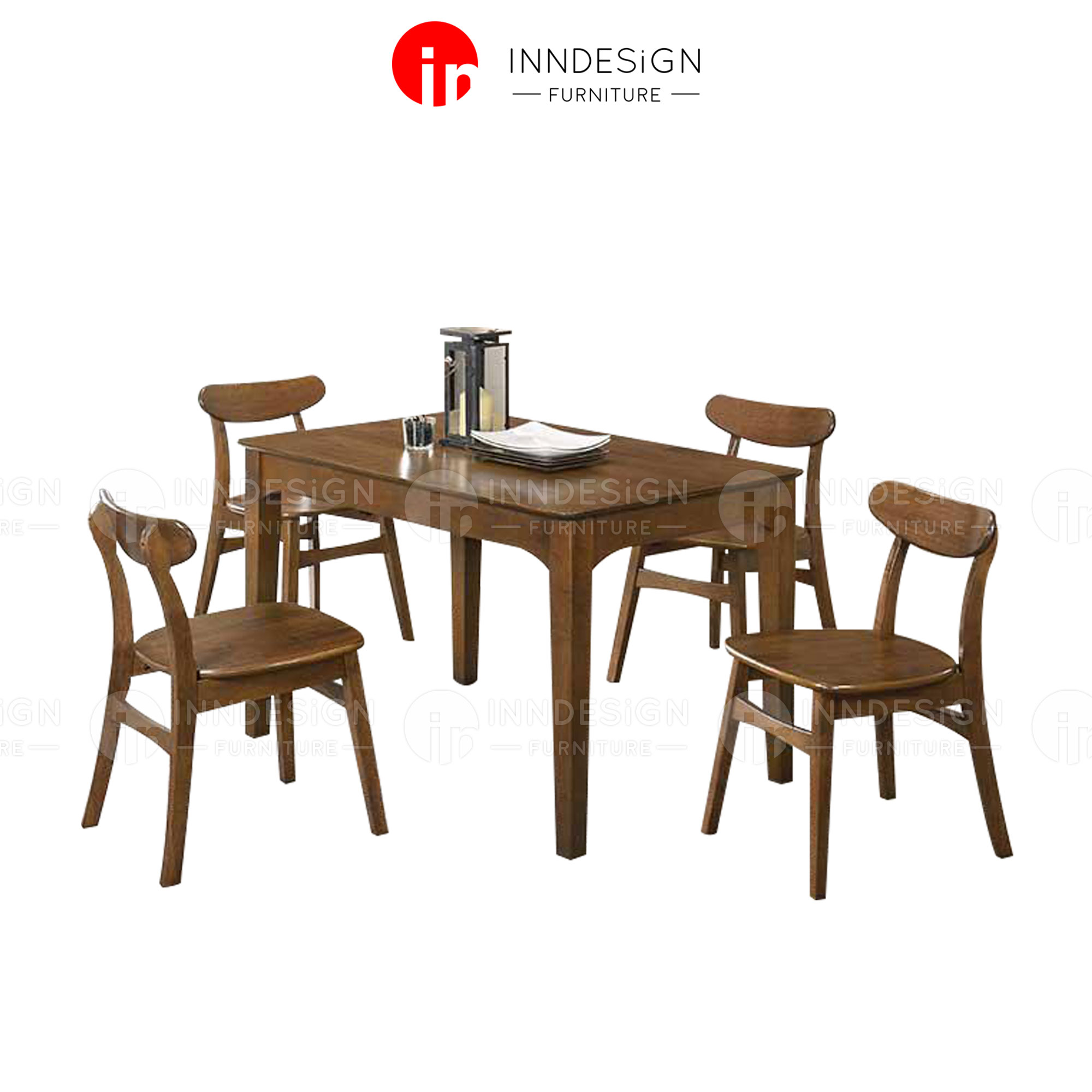 M3009 1+4 Solid Wood Dining Set