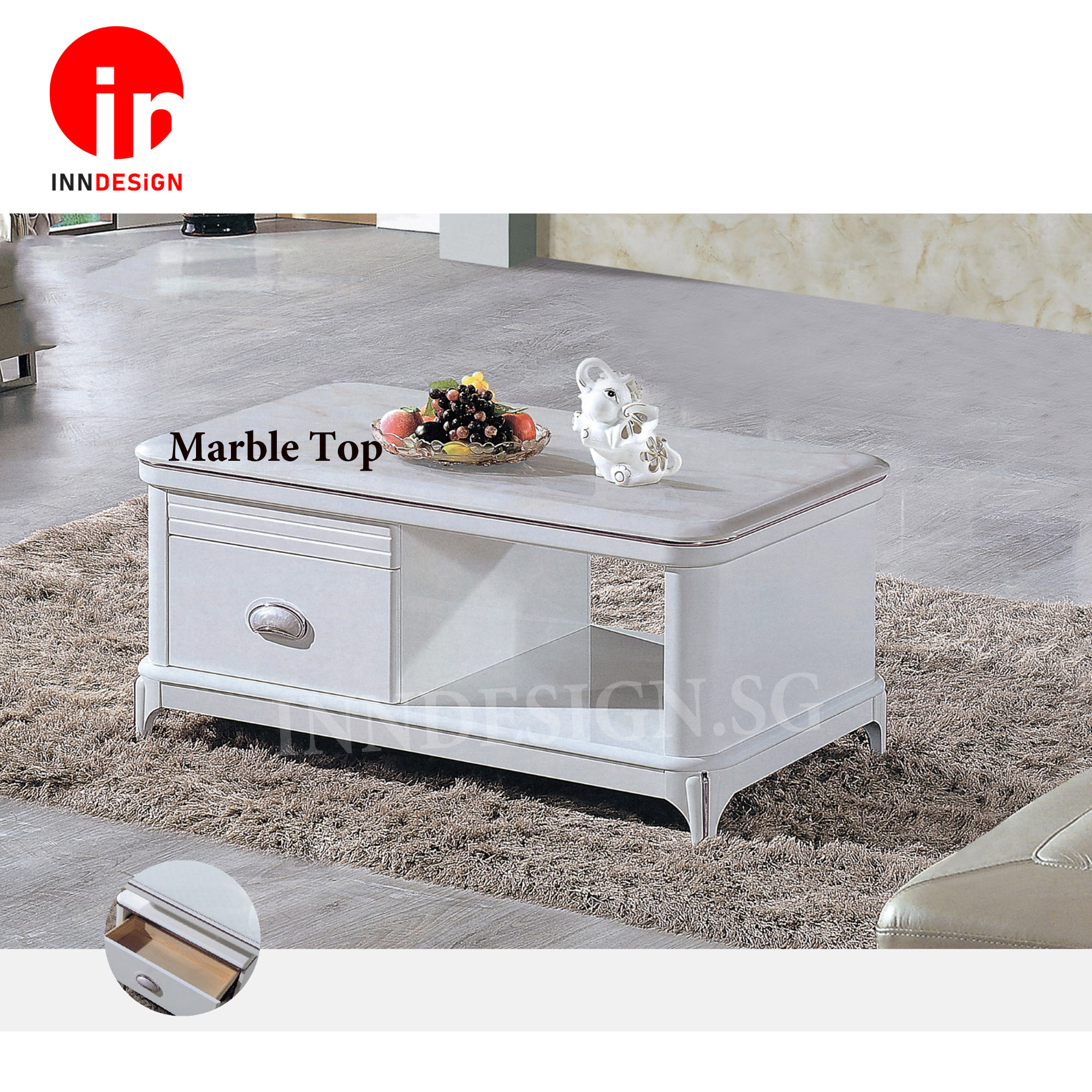 Bettina Marble Top Coffee Table