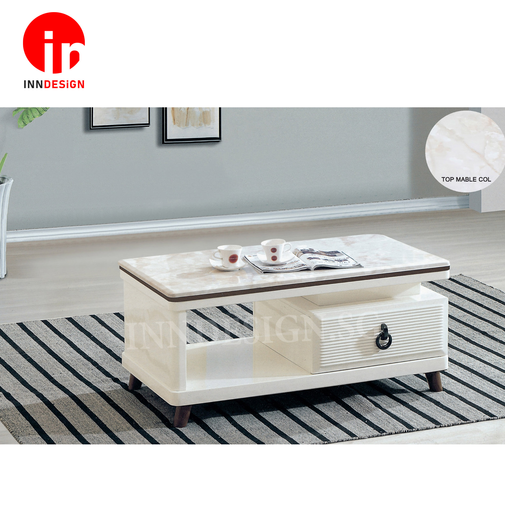 Selane Marble Top Coffee Table