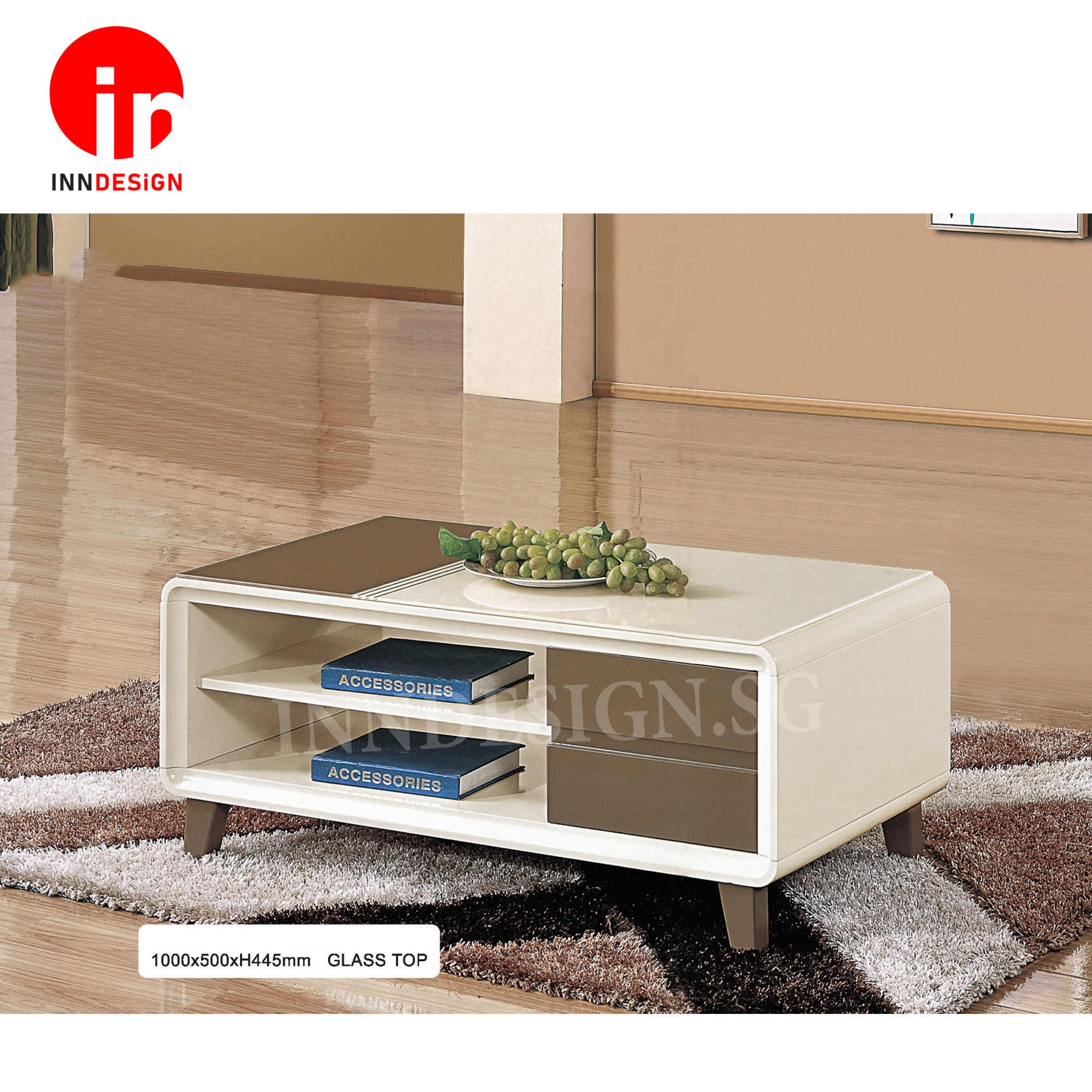 Kallan Glass Top Coffee Table