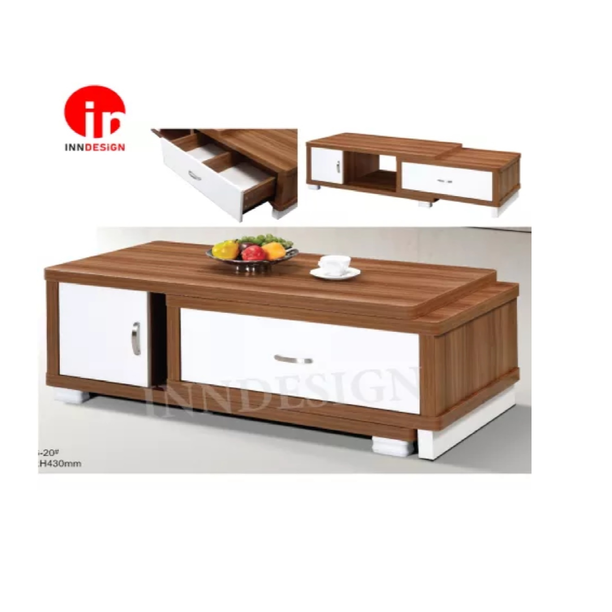 Extendable Coffee Table With Drawer