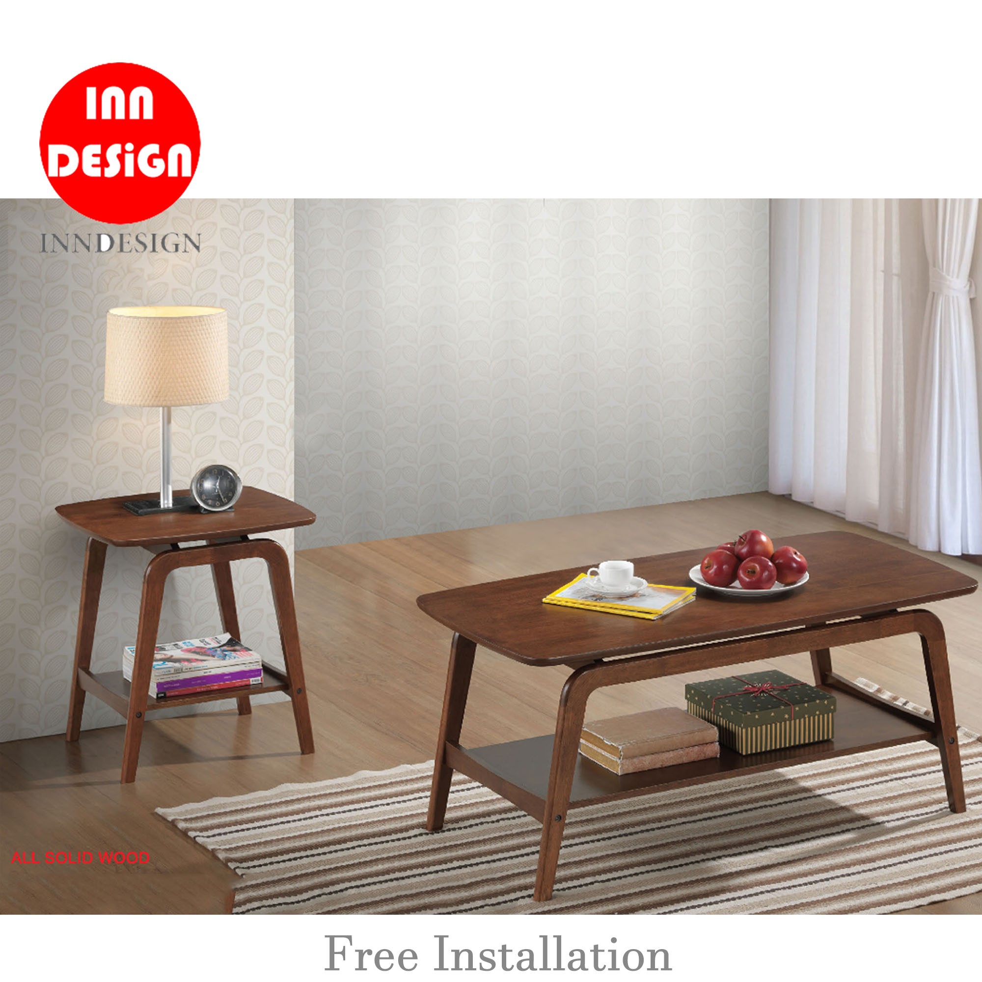Noreen Side Table / Coffee Table (100% Solid Wood)