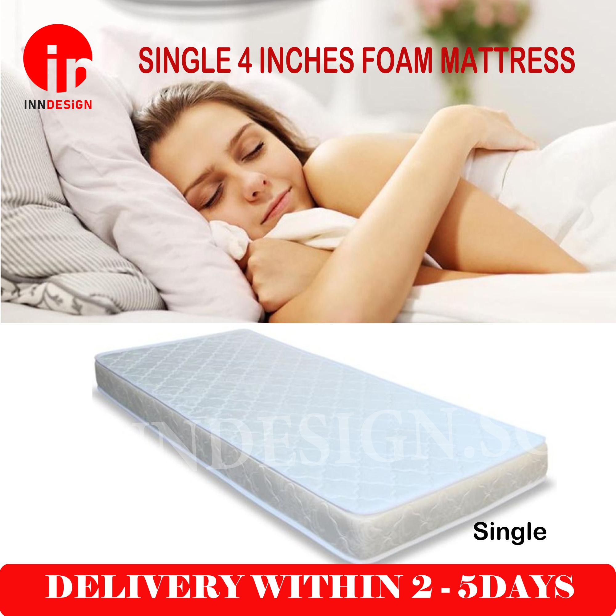 "Single 4"" Foam Mattress"