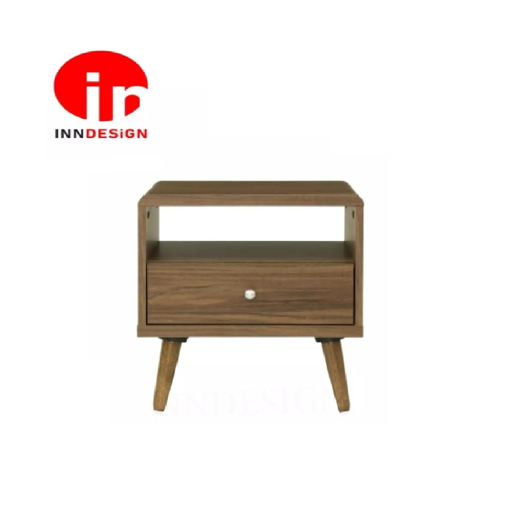 Berline Rounded Edge Side Table / Coffee Table With Solid Wood Leg (Free Delivery and Installation)