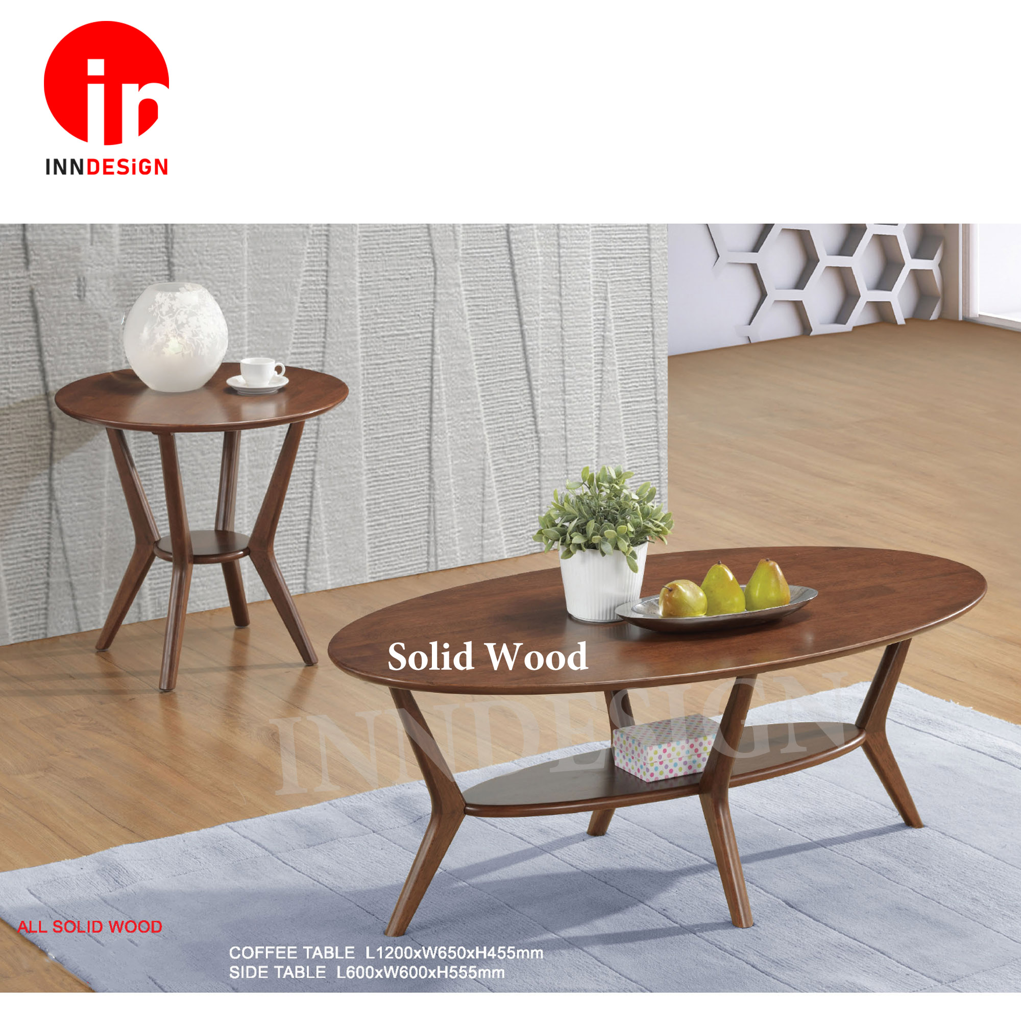 Norren Solid Wood Coffee Table