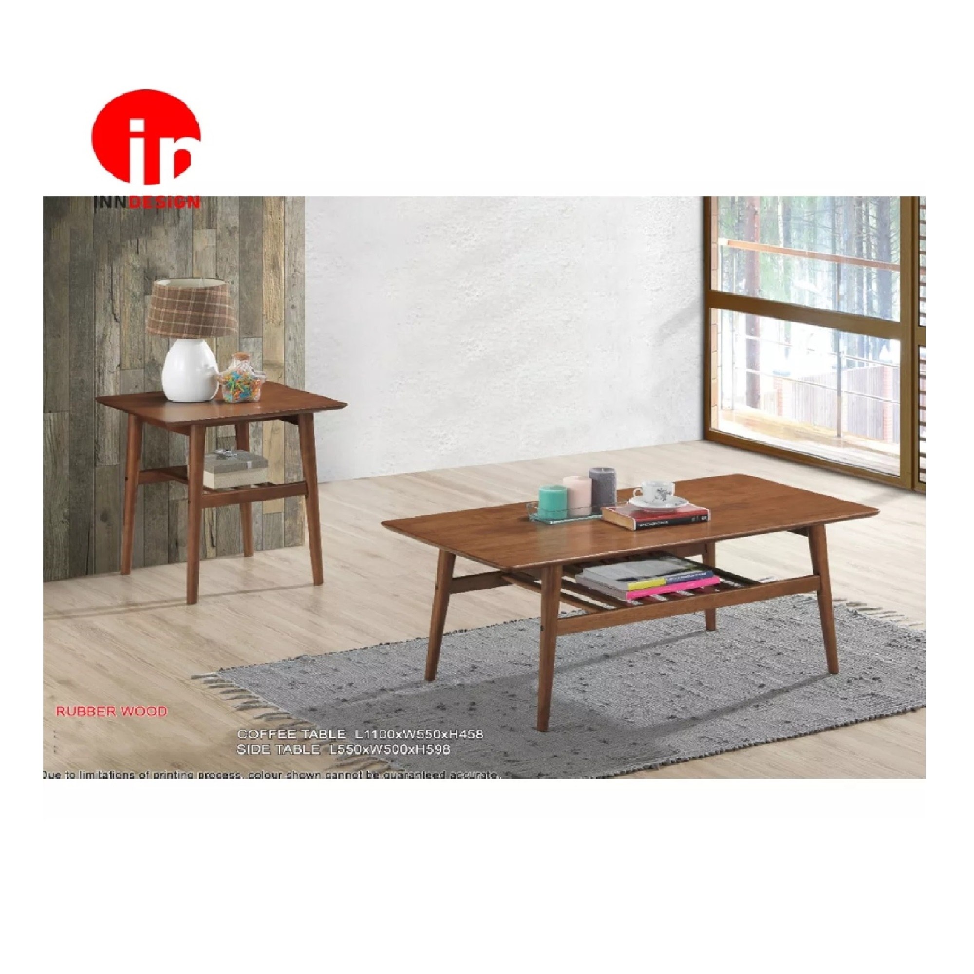 Elive 100% Solid Wood Side Table (Free Delivery and Installation)