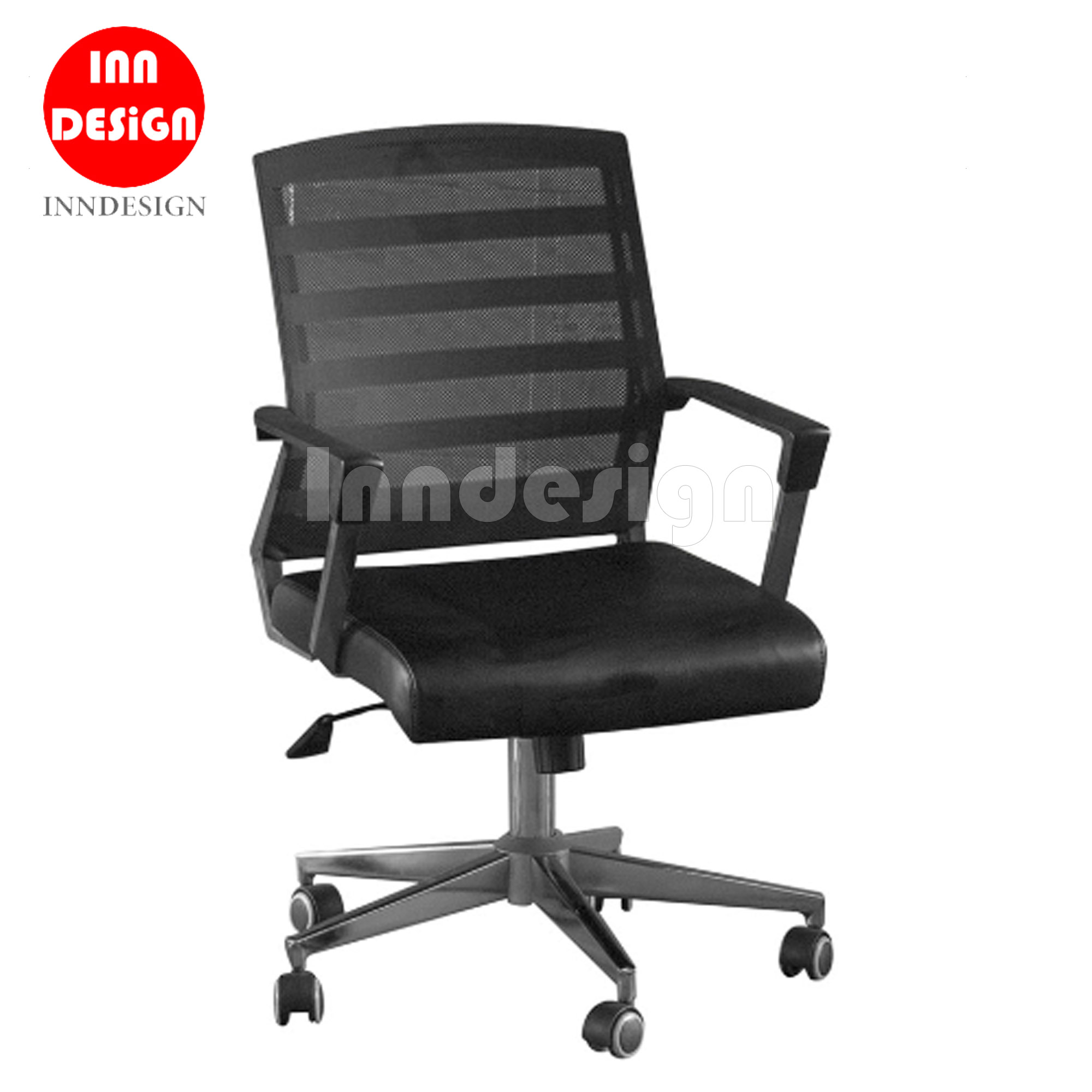 Study Chair / Office Chair with PVC Seat