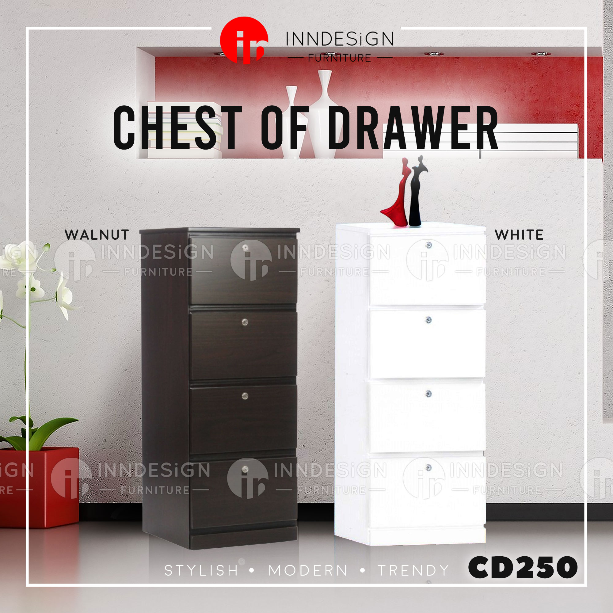 CD250 Max Chest of 4 Drawers