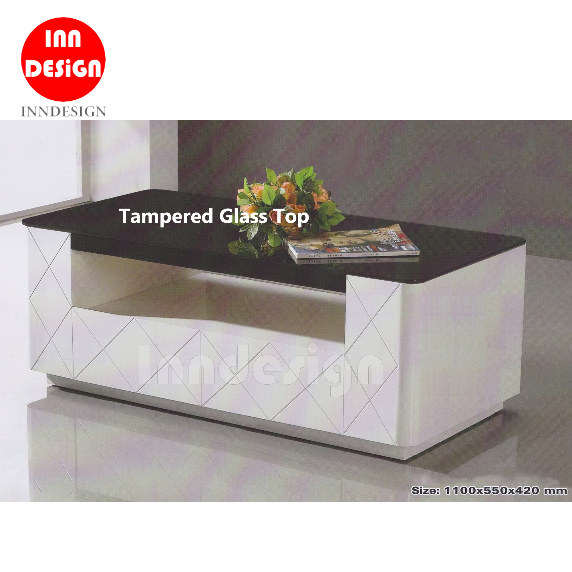 Ame Tampered Glass Coffee Table