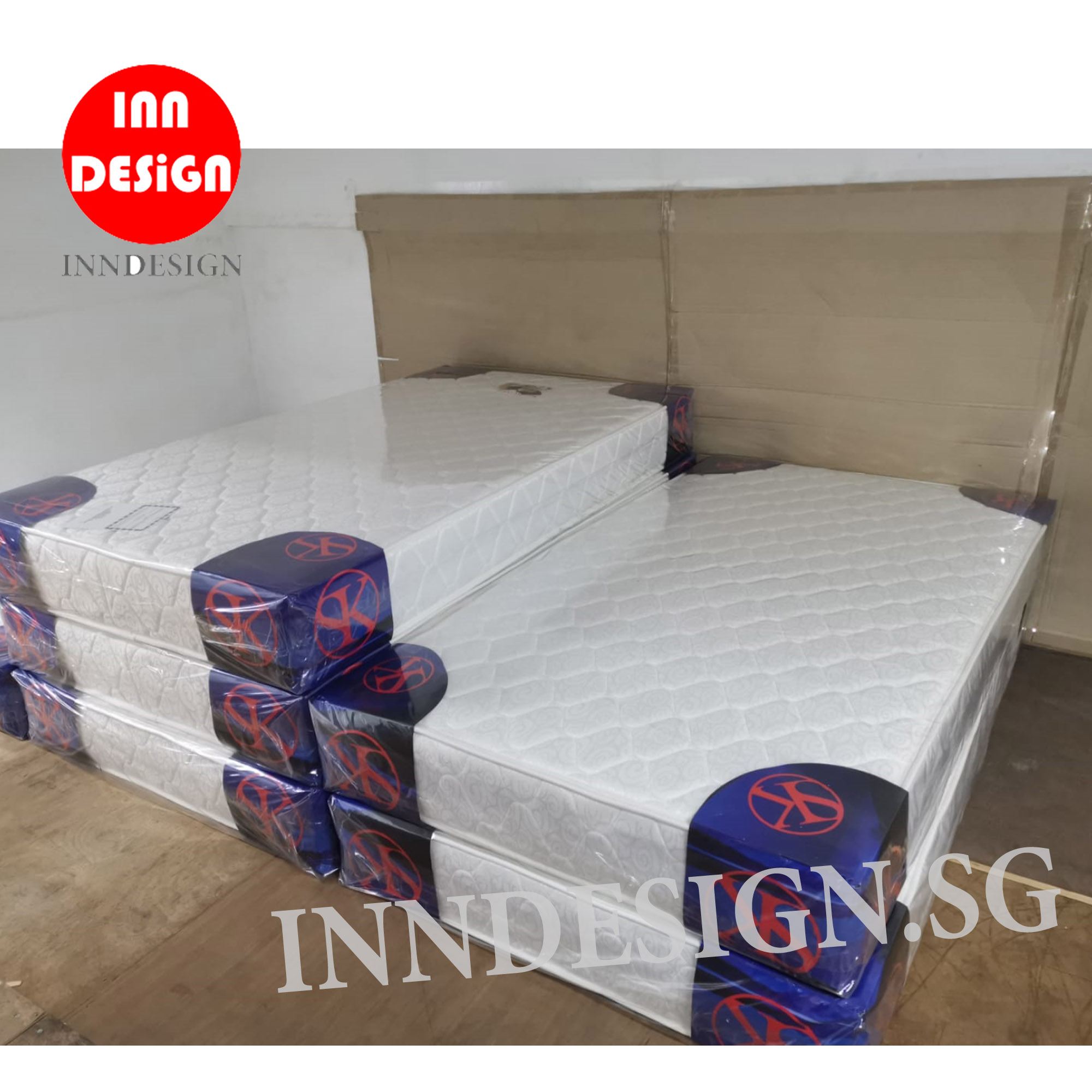 "King 8"" Beauty Coil Spring Mattress"