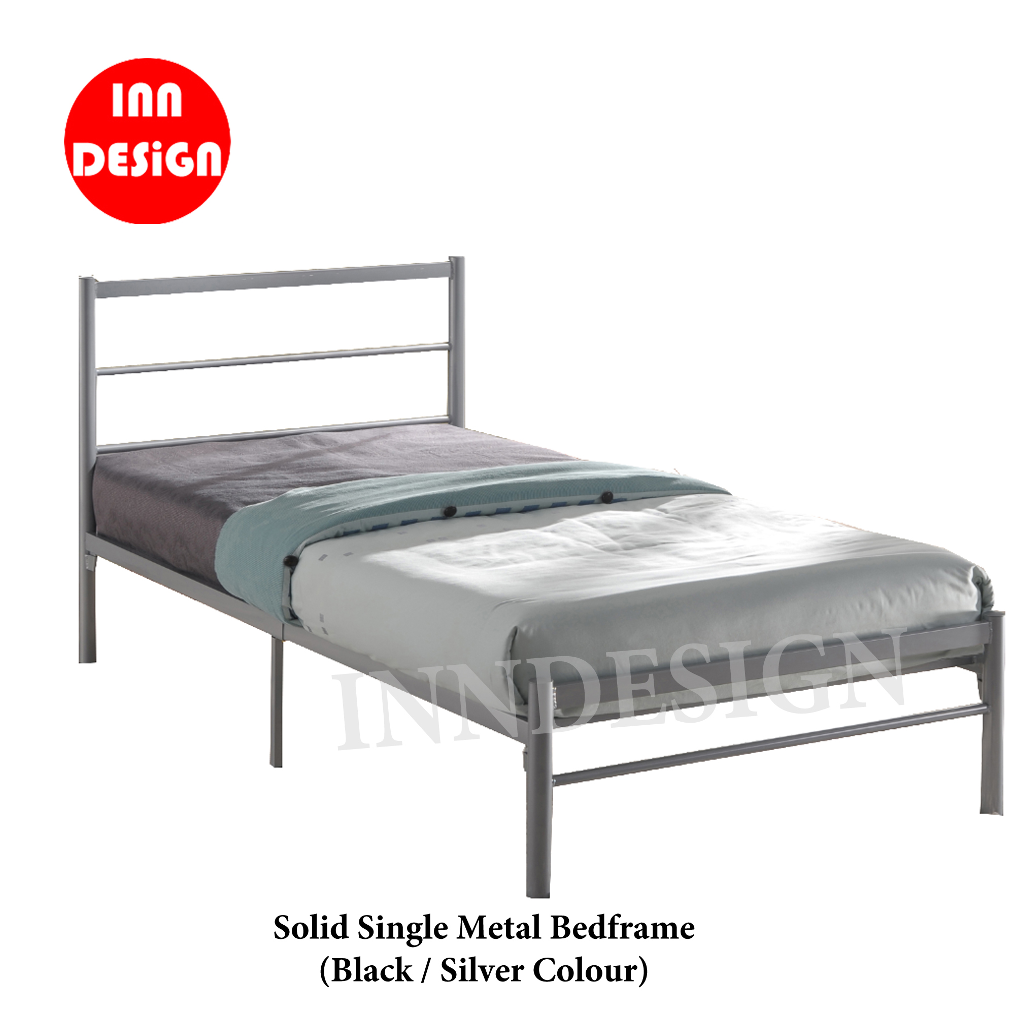 Ine Single Metal Bedframe