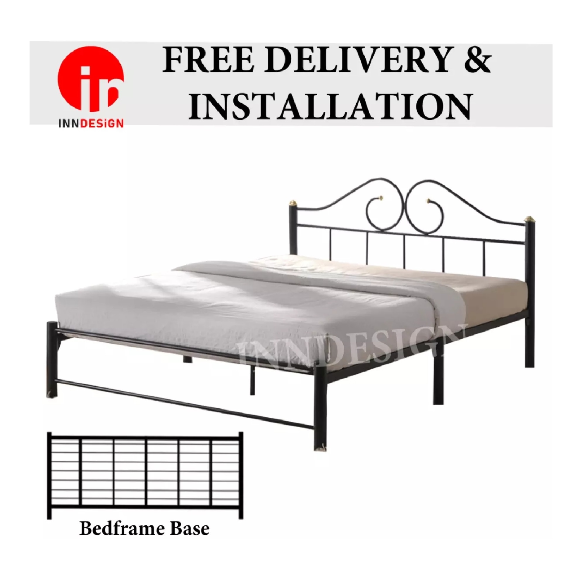 Evi Queen Metal Bed