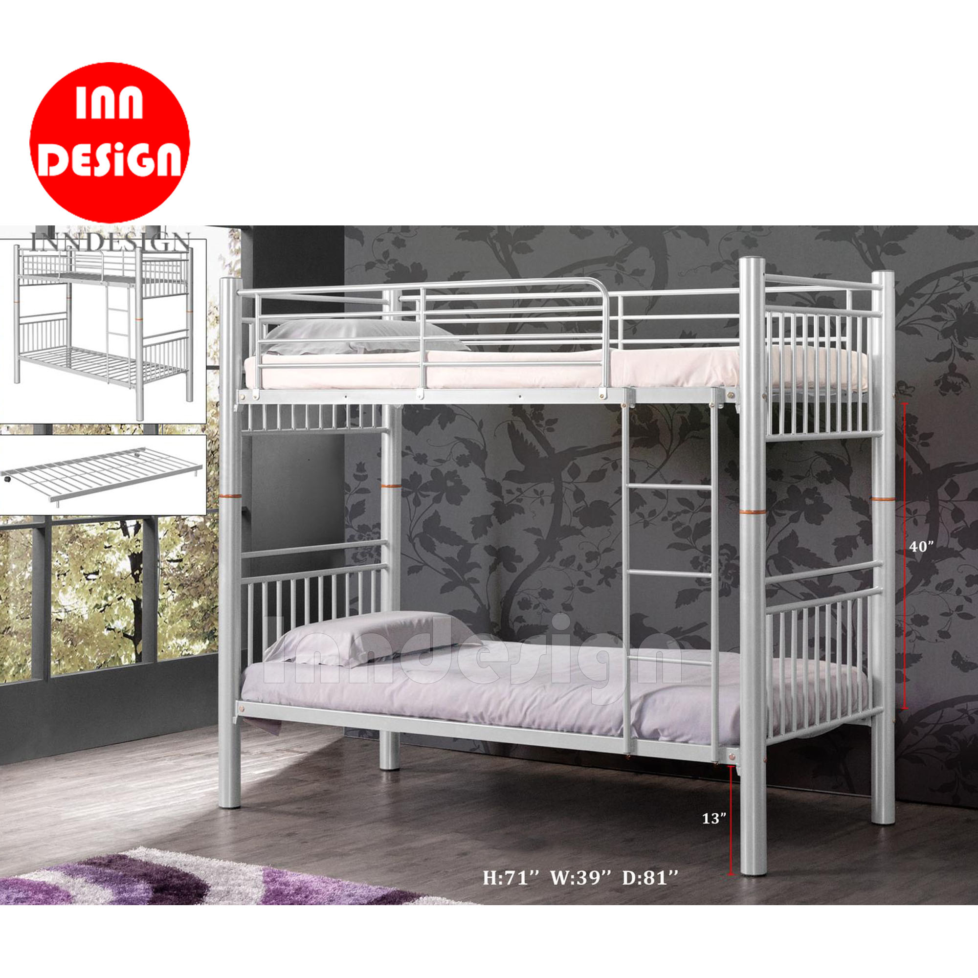 Newity Single Size Double Desker Bed