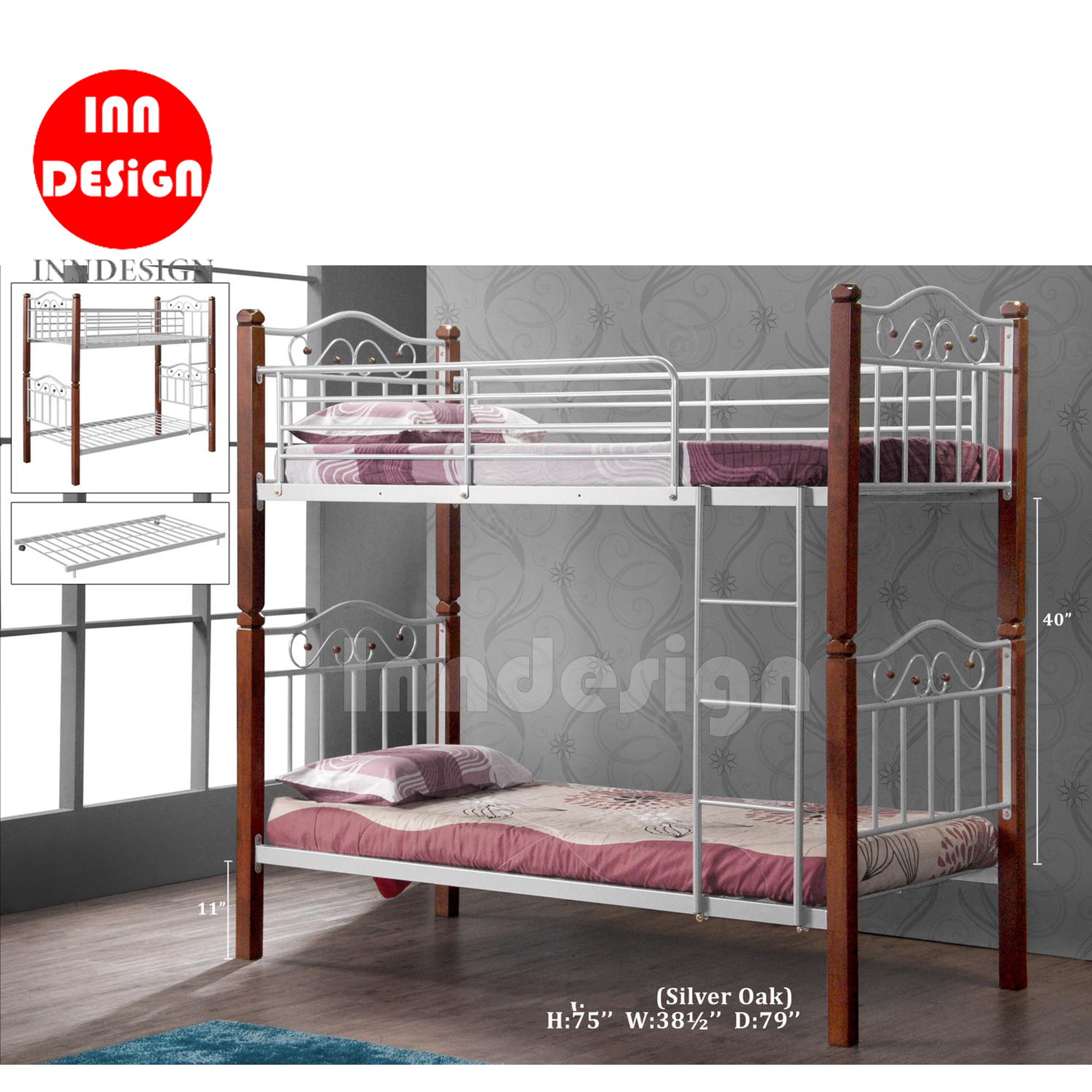 Bell Single Size Double Desker Bed