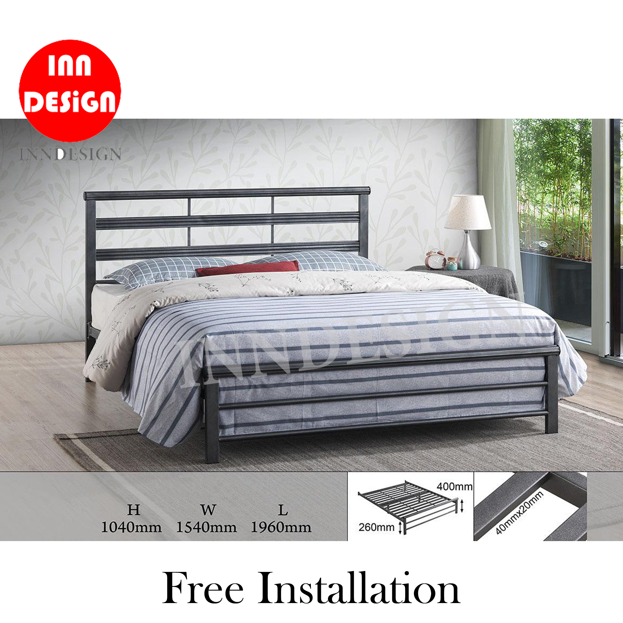 Emmie Queen Metal Bedframe