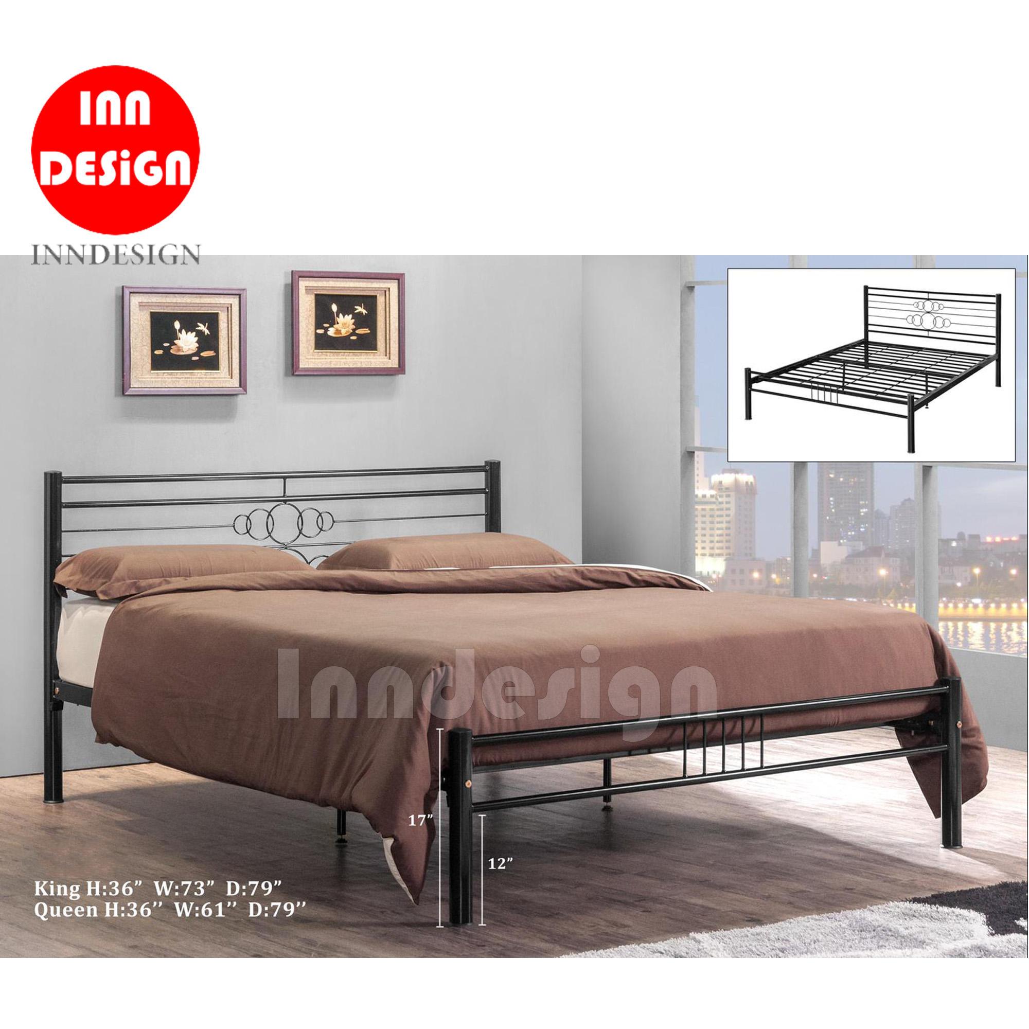 Colen Queen Metal Bedframe