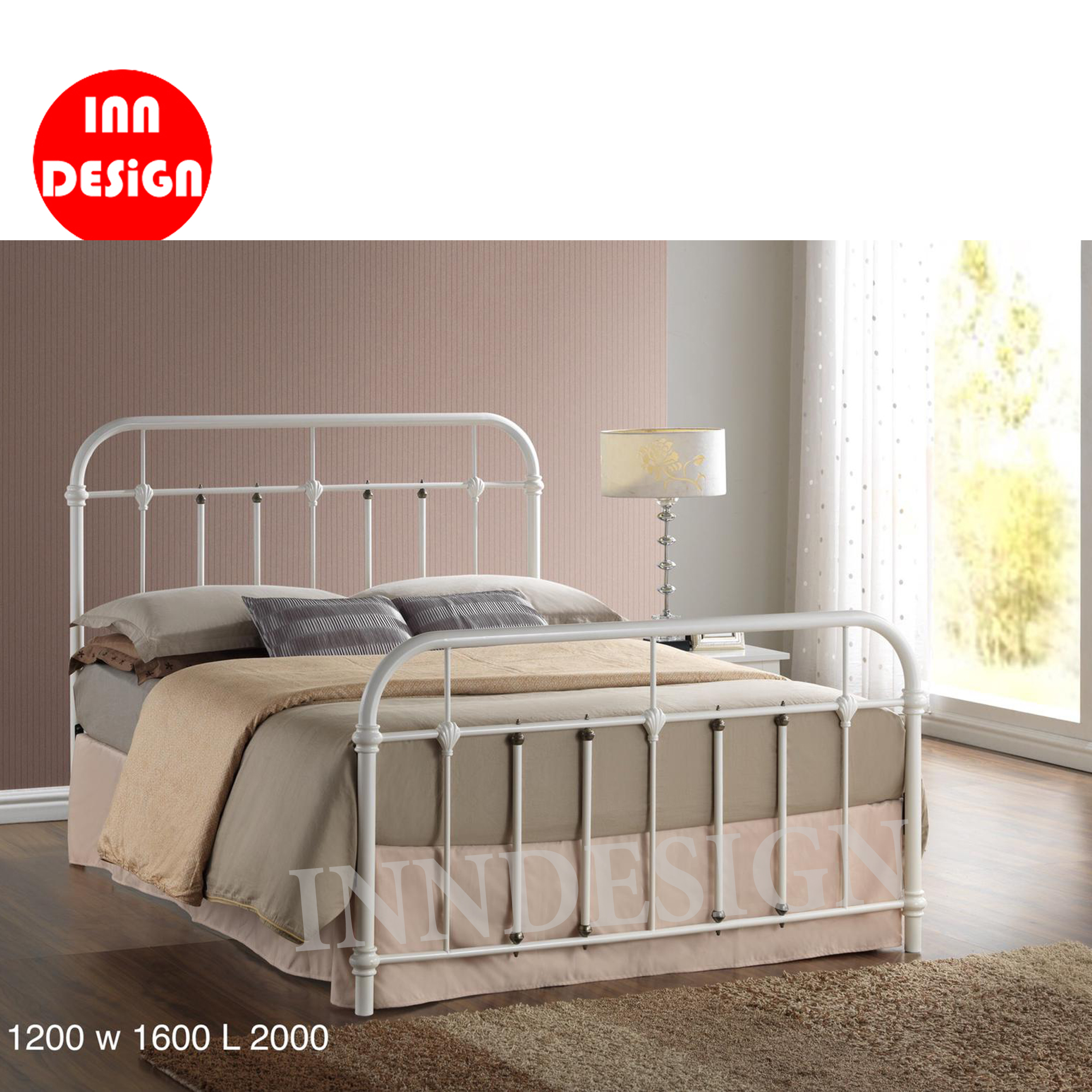 Ebie Queen Metal Bedframe
