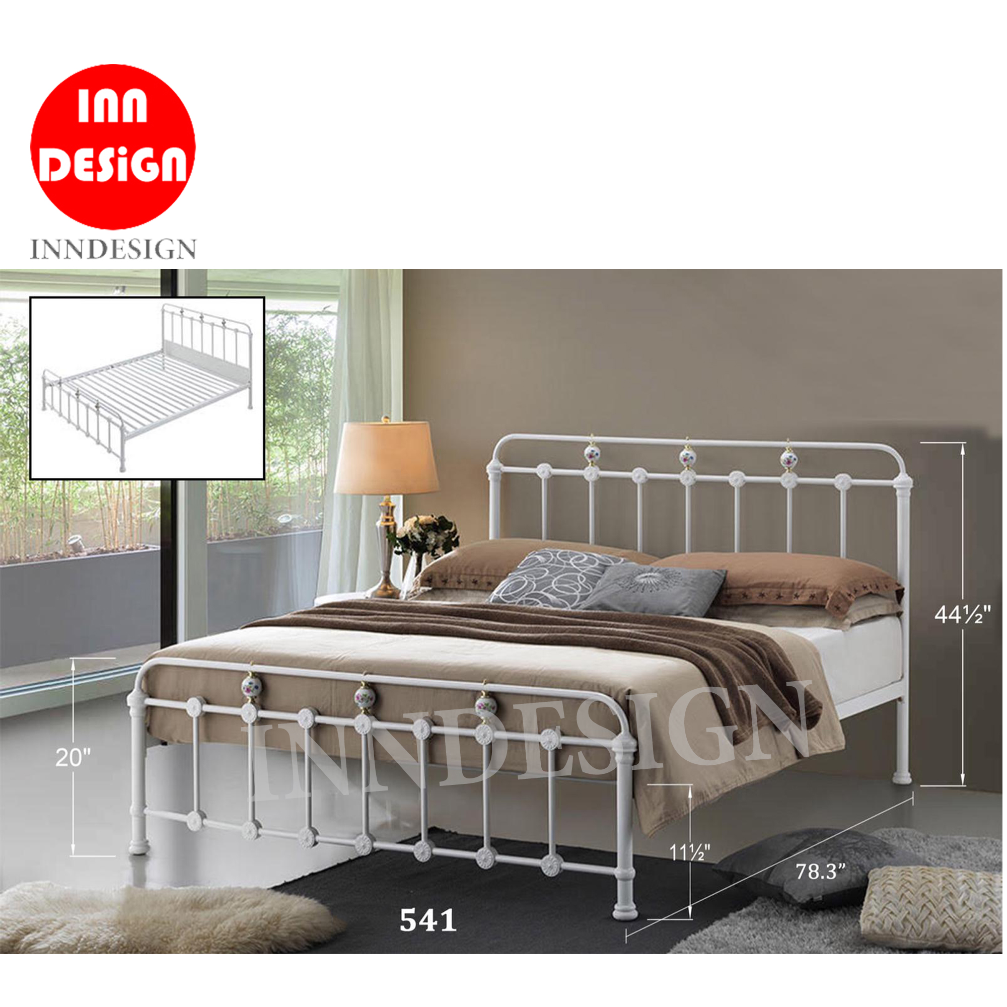 Geralnd Queen Metal Bedframe