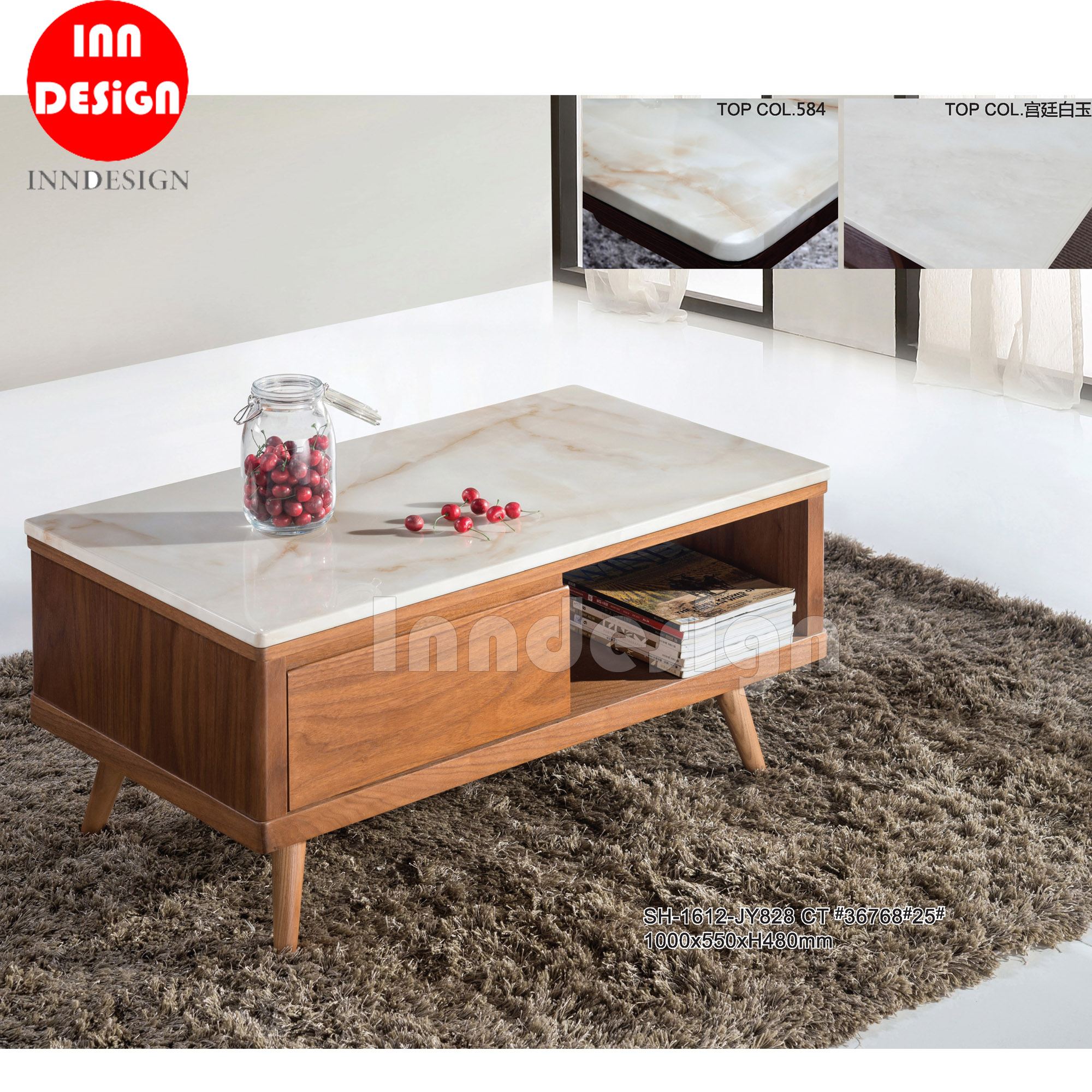 Venery Marble Top Coffee Table