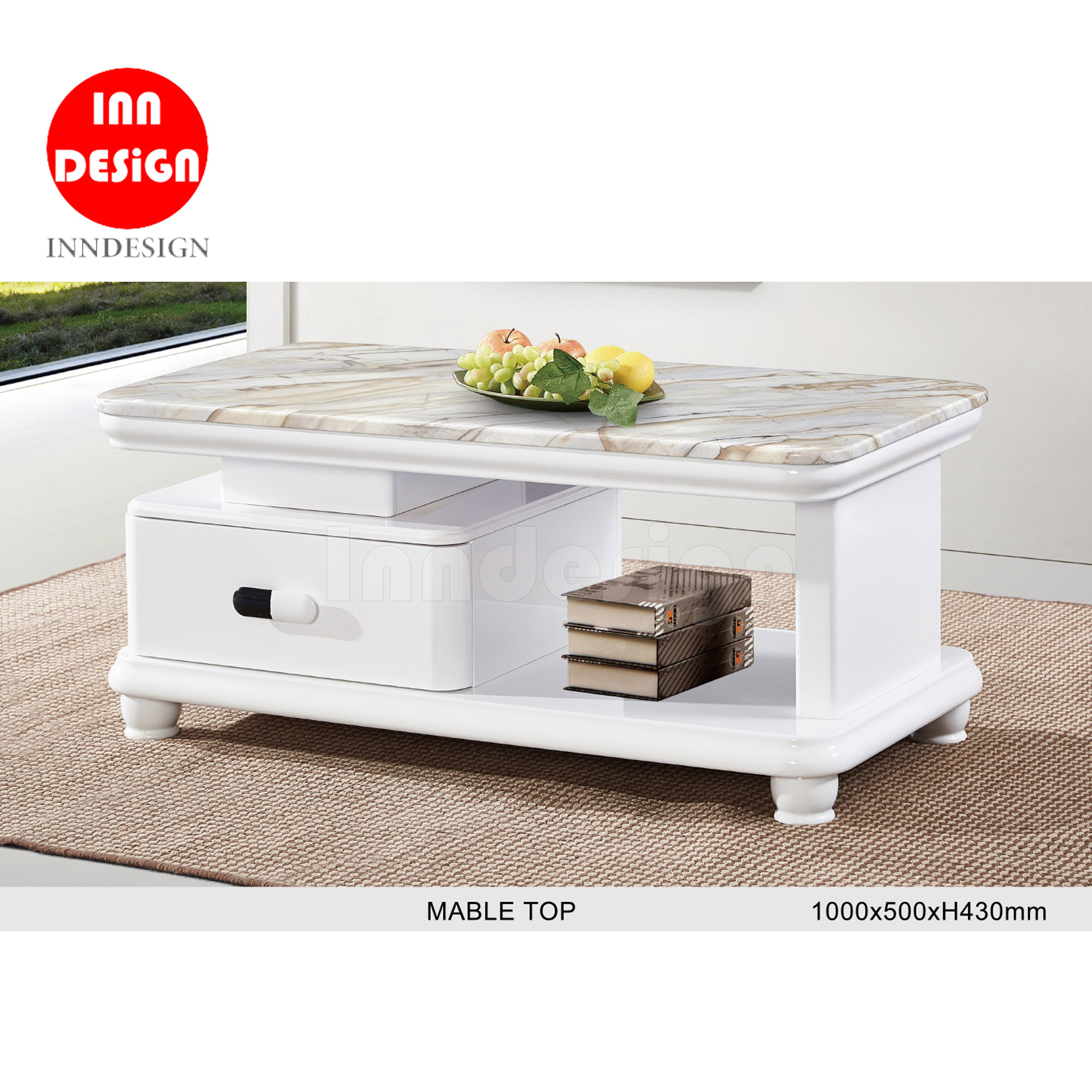 Laili Coffee Table (Marble Top)