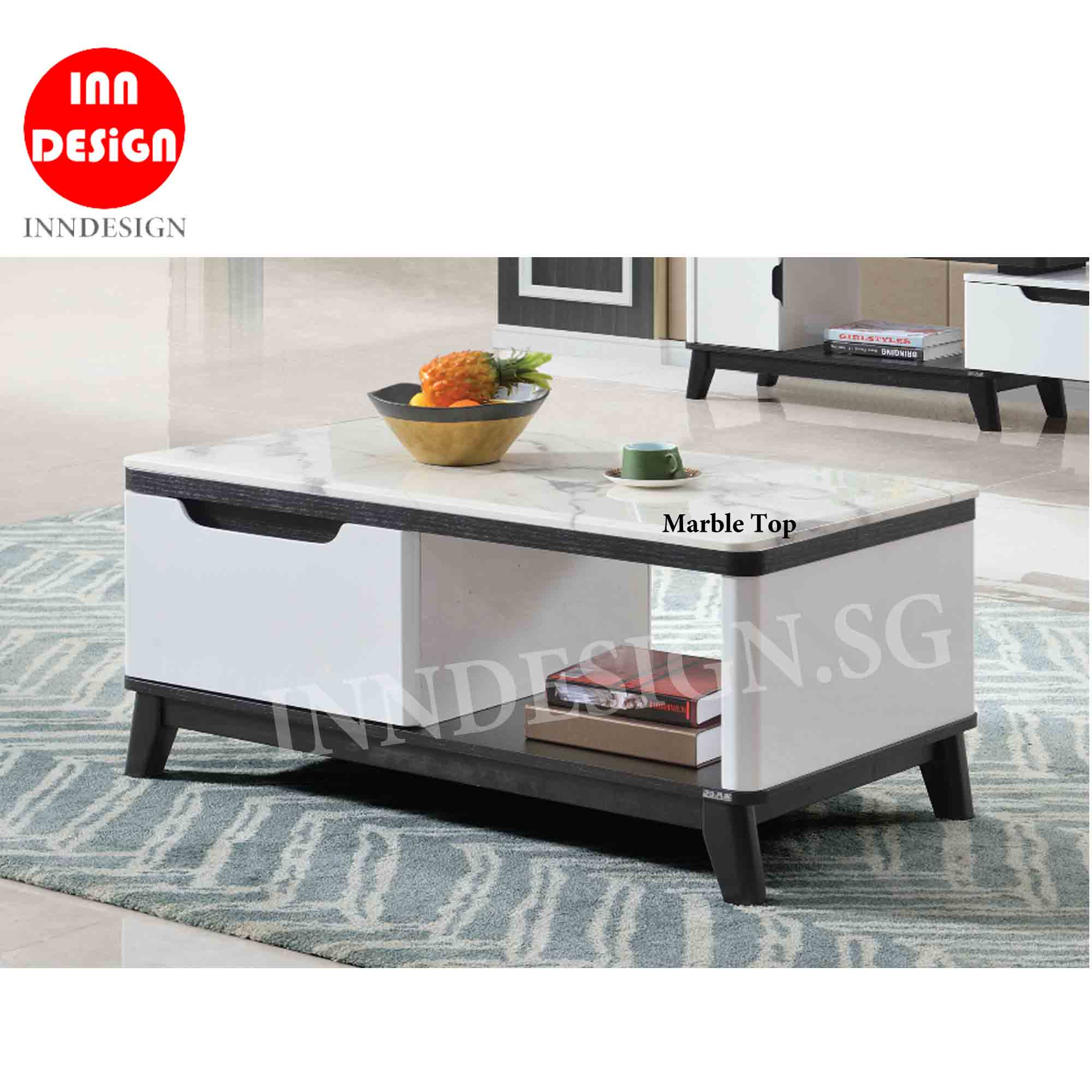Feray Marble Top Coffee Table