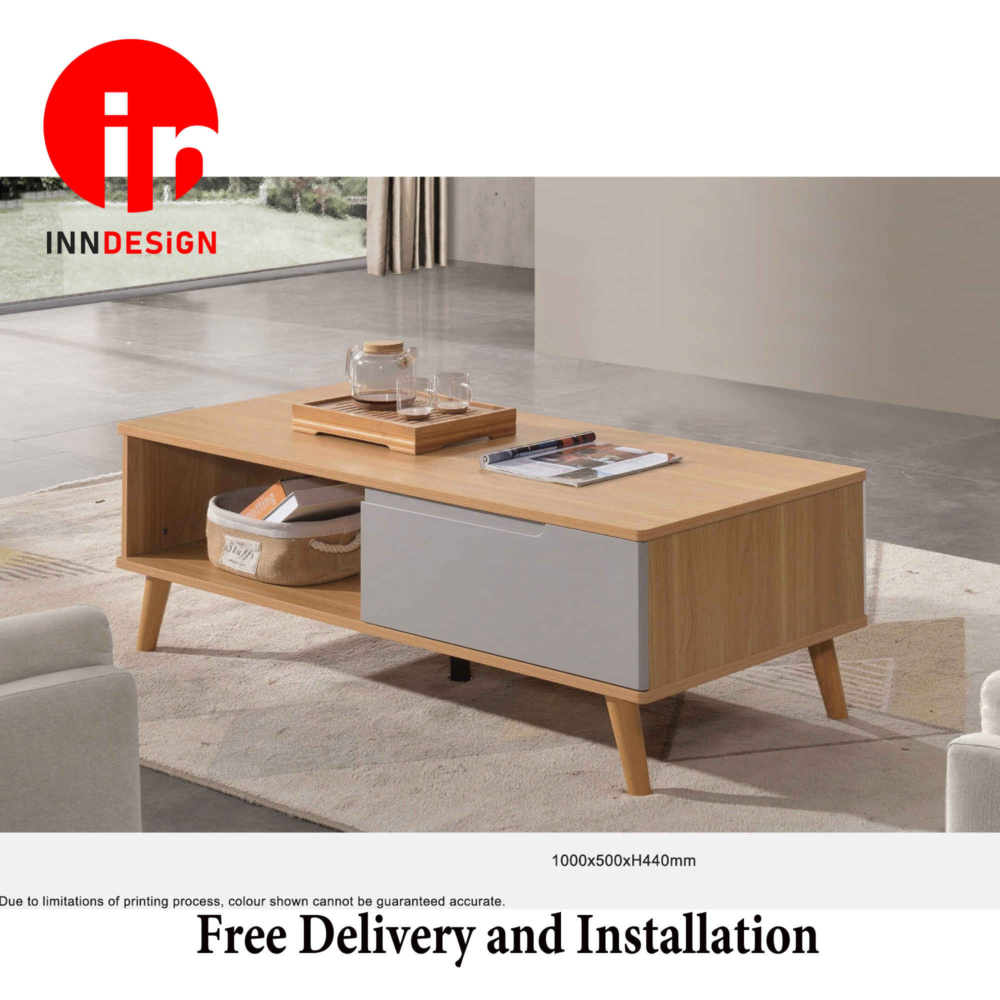 Emi Extendable Coffee Table With Drawer