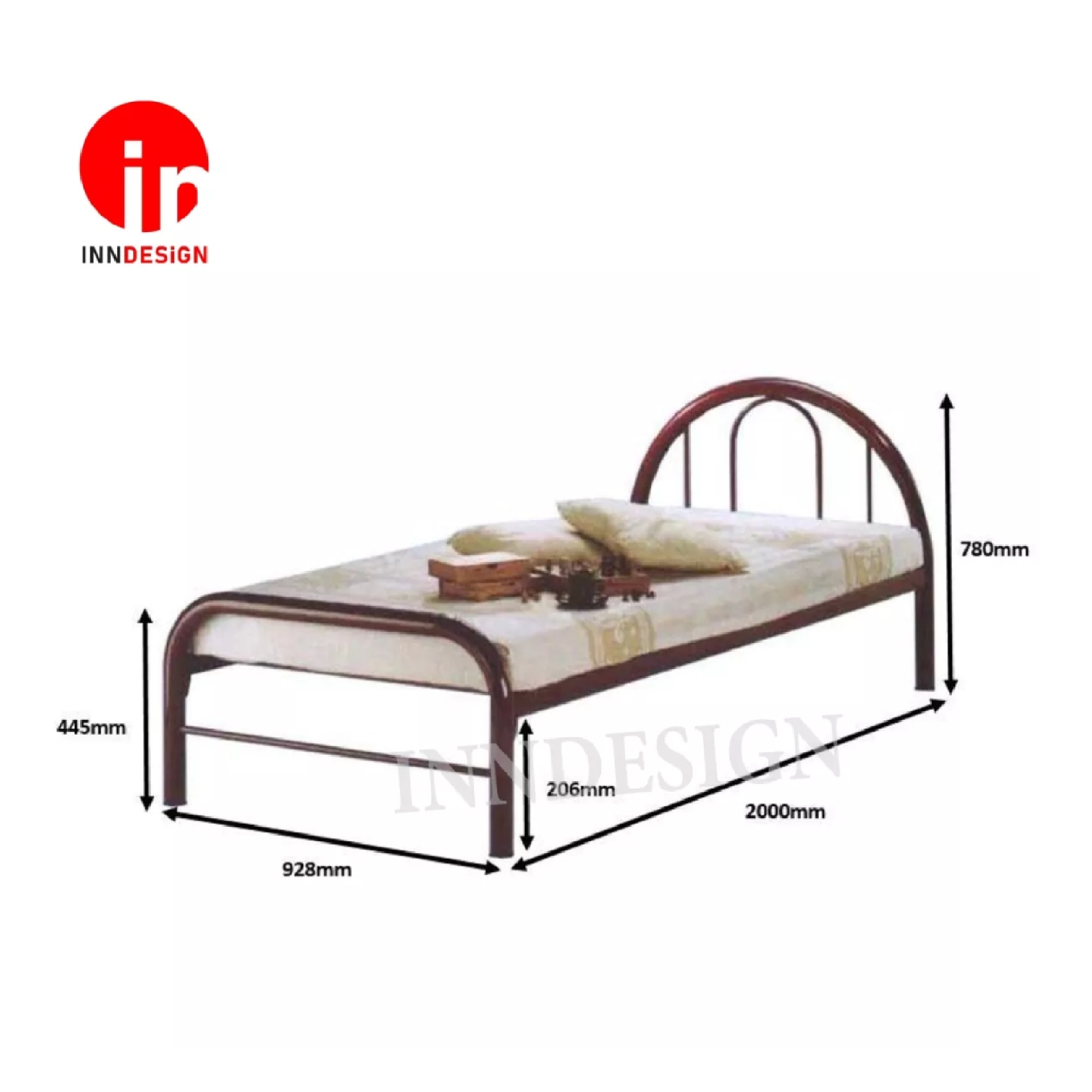 Single Metal Bed (Copper)