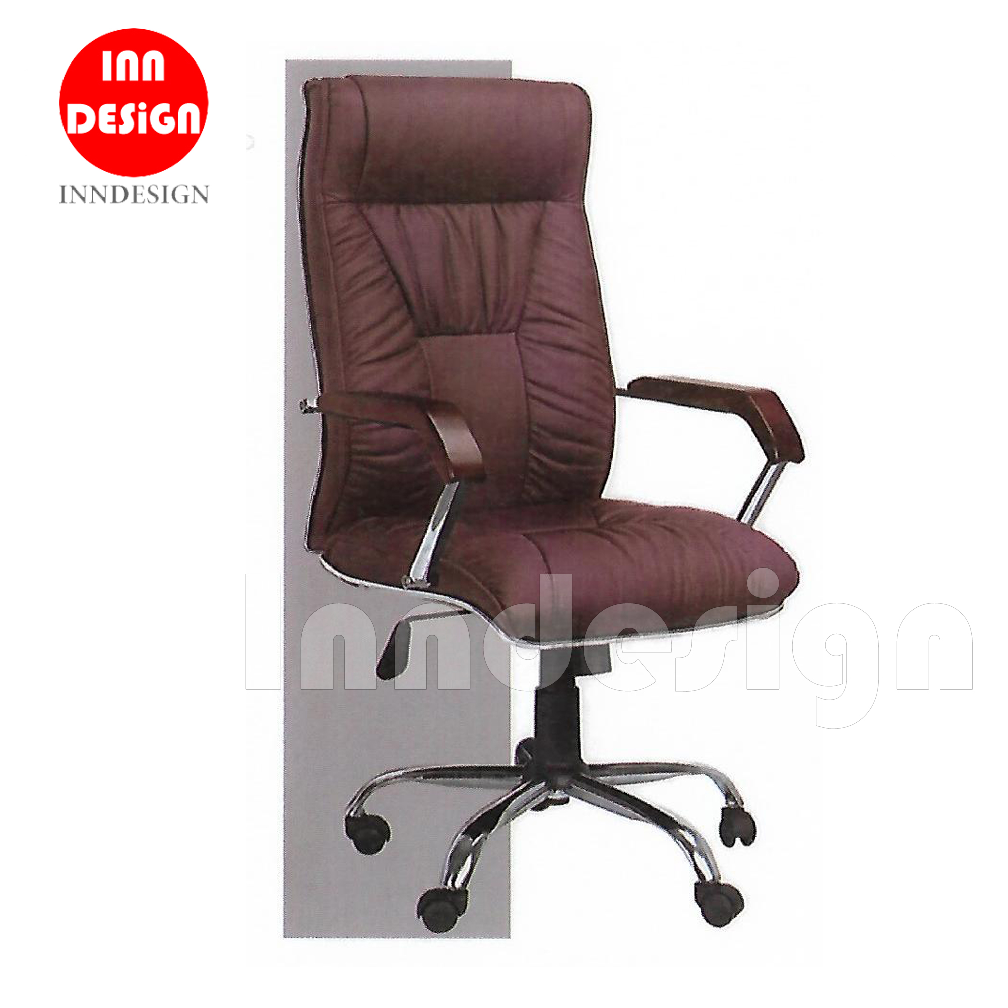 High Back Synthetic Leather Office Chair (Black)