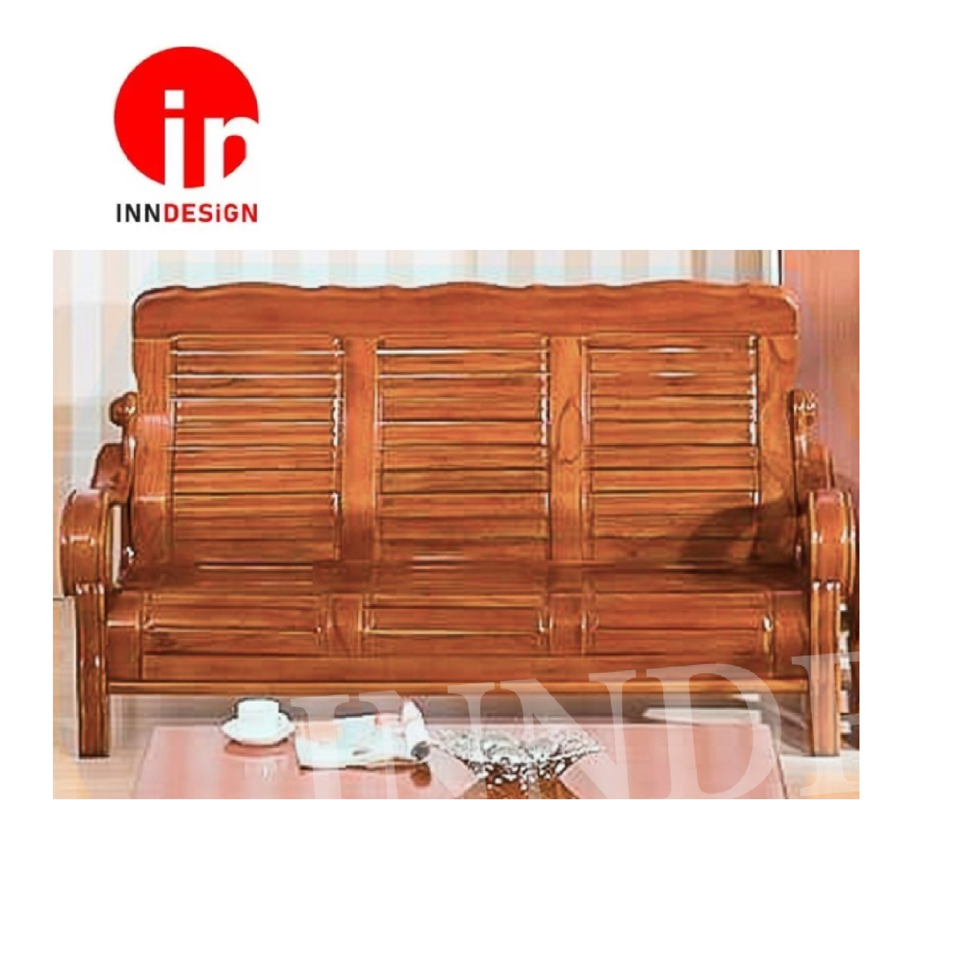 Traditional Minimalist Chinese Style Solid Wood Sofa (3 Seater)