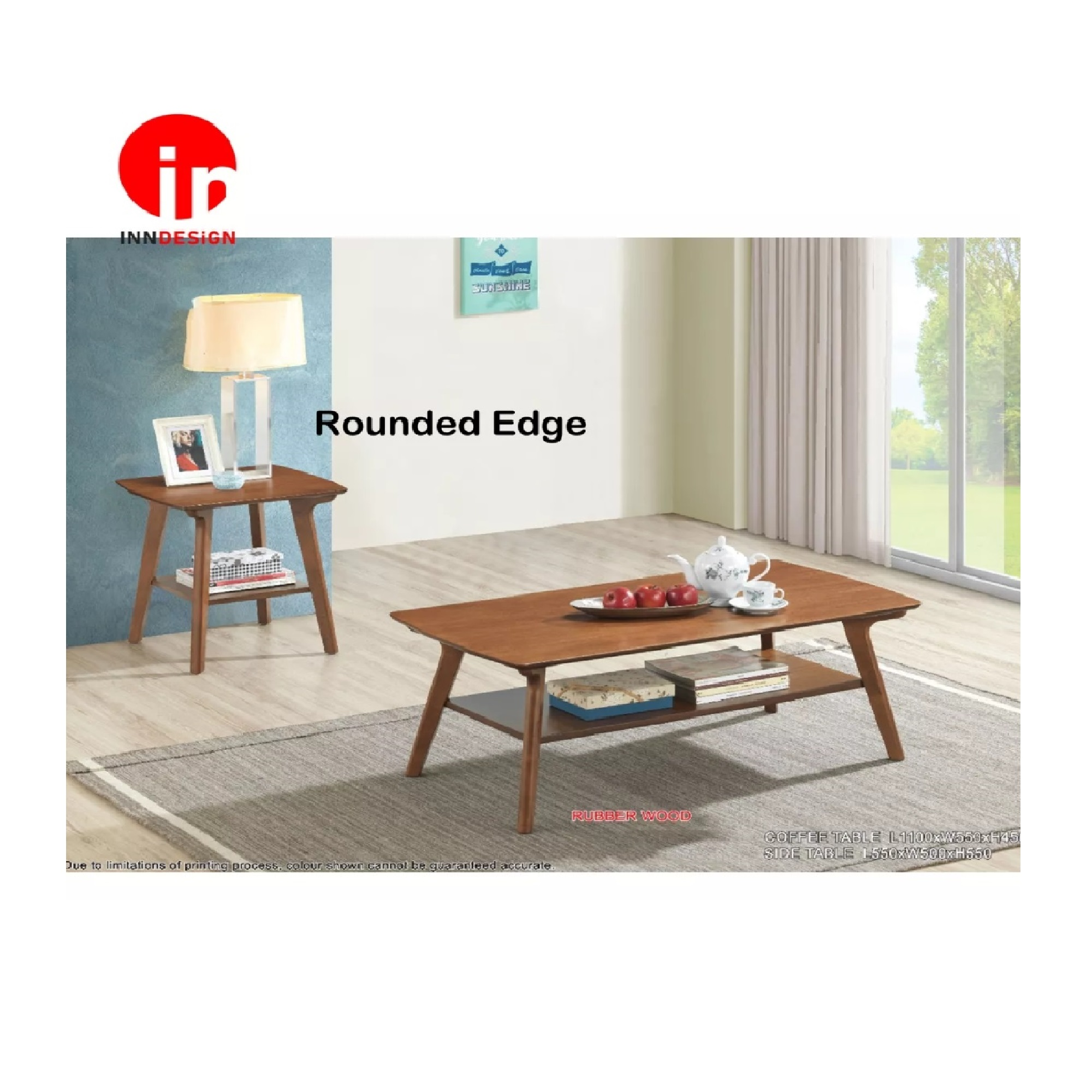 Eliva 100% Solid Wood Side Table (Free Delivery and Installation)