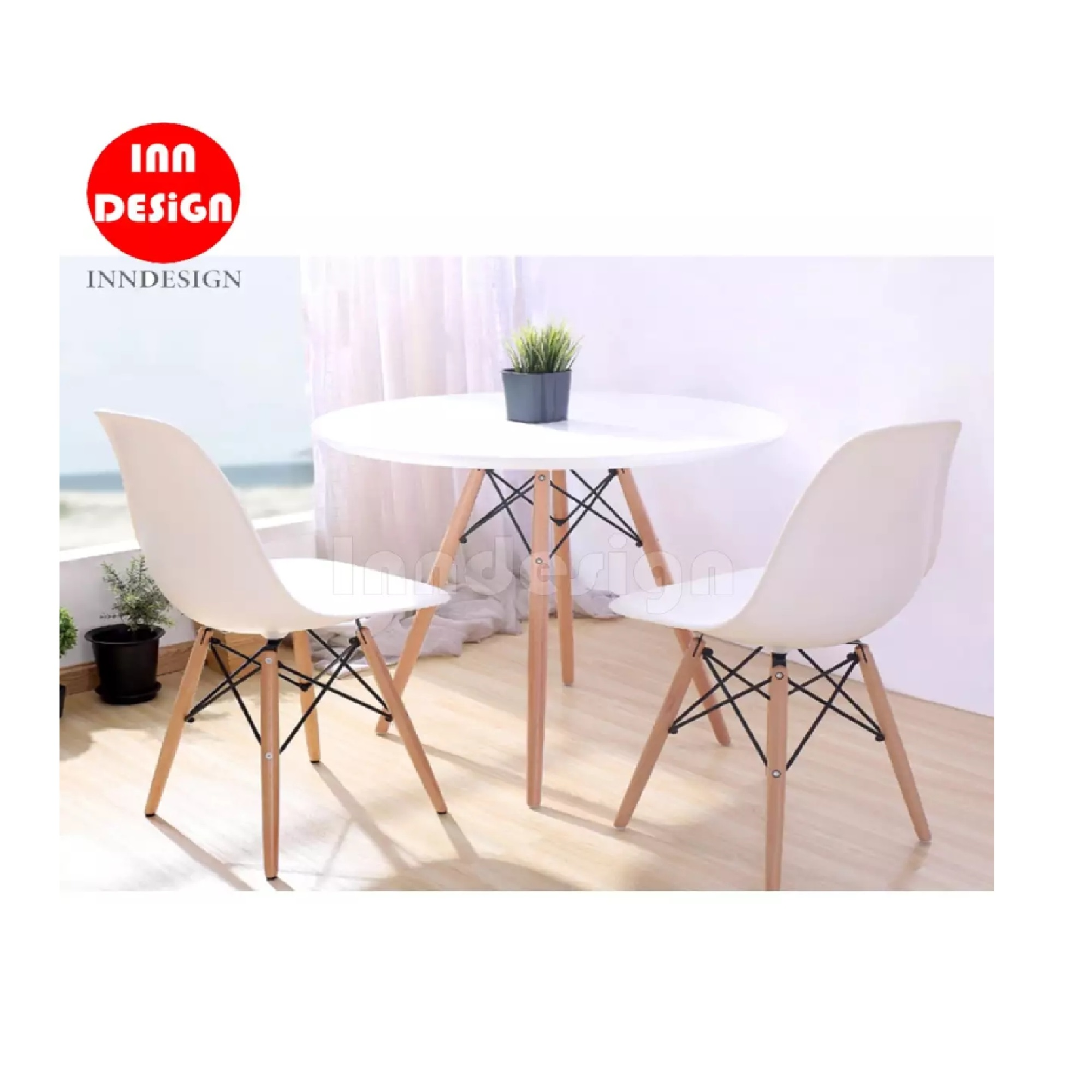 Eames 1+2 Dining Set / Coffee Table Set / Lounge Set (White)